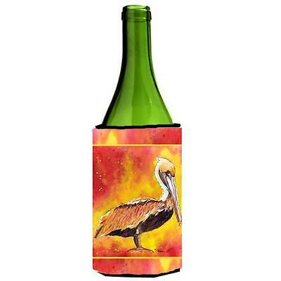 Carolines Treasures Brown Pelican Hot And Spicy Wine Bottle Hugger 24 oz.