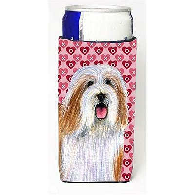 Bearded Collie Hearts Love And Valentines Day Portrait Michelob Ultra s For S...