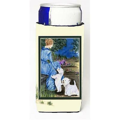 Carolines Treasures Lady With Her Westie Michelob Ultra s For Slim Cans 12 oz.