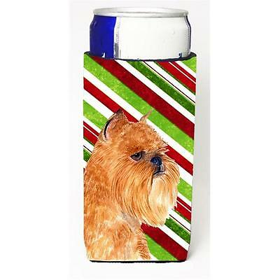 Brussels Griffon Candy Cane Holiday Christmas Michelob Ultra s For Slim Cans ...