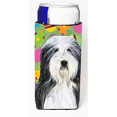 Bearded Collie Easter Eggtravaganza Michelob Ultra bottle sleeves For Slim Cans