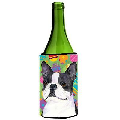Boston Terrier Easter Eggtravaganza Wine bottle sleeve Hugger 24 Oz.