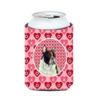 French Bulldog Valentines Love And Hearts Can Or bottle sleeve Hugger 12 oz.