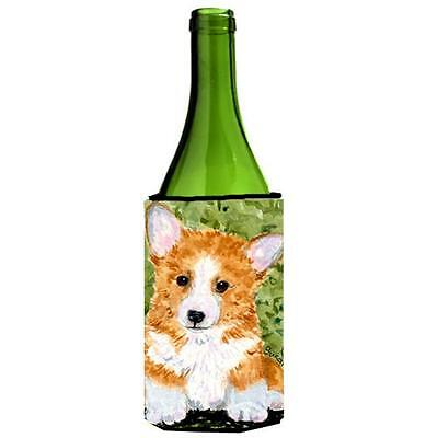 Carolines Treasures SS8710LITERK Corgi Wine bottle sleeve Hugger 24 Oz.