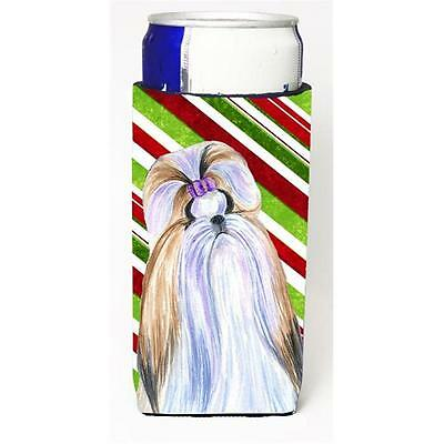 Shih Tzu Candy Cane Holiday Christmas Michelob Ultra s for slim cans