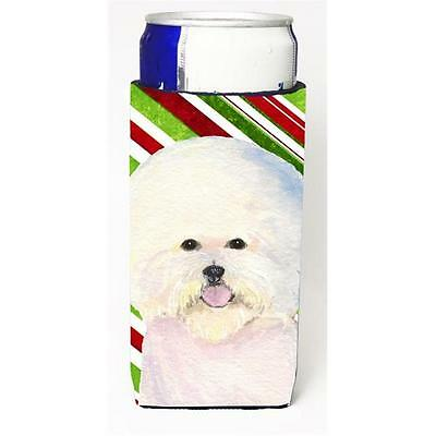 Bichon Frise Candy Cane Holiday Christmas Michelob Ultra bottle sleeve for Sl...