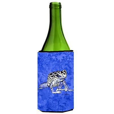 Carolines Treasures 8687LITERK Frog Wine bottle sleeve Hugger 24 oz.