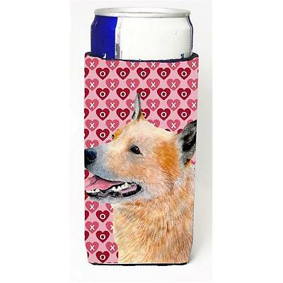 Australian Cattle Dog Hearts Love Valentines Day Michelob Ultra s for slim cans