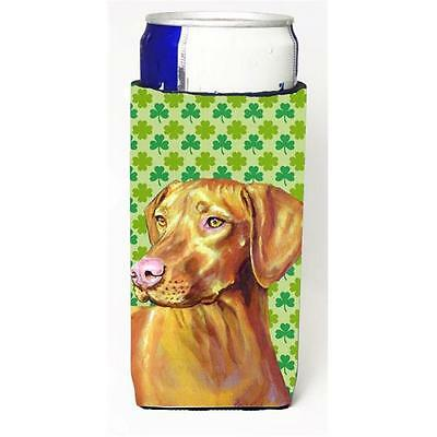 Vizsla St. Patricks Day Shamrock Portrait Michelob Ultra bottle sleeve for Sl...