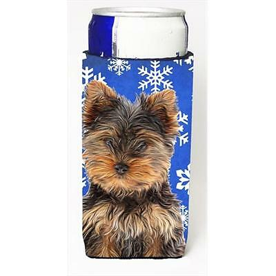 Winter Snowflakes Holiday Yorkie Puppy & Yorkshire Terrier Michelob Ultra bot...