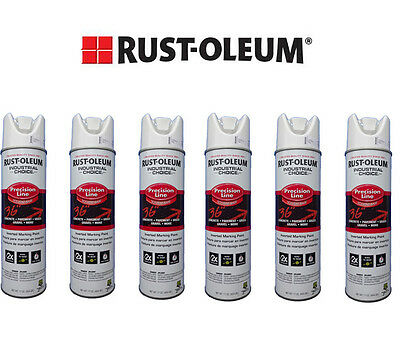 Rust-Oleum Survey Grade White Inverted Marking Paint Quantity of 6 Cans