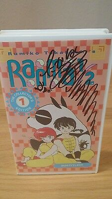 Ranma 1/2 The Collector's Edition 1 VHS tape signed by Rumiko Takahashi