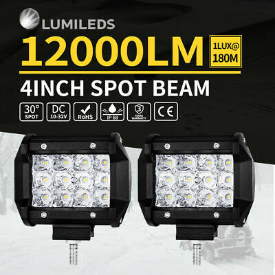 2x 30W CREE LED Work Light Bar Spot Driving Lamp Mount Offroad 4WD Truck 5inch