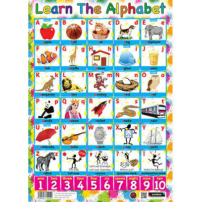 Know & Learn Your Alphabet Educational Poster Large / Wall Chart - ABC's & Maths