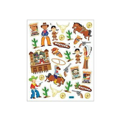 Scrapbooking Crafts Stickers Sticker King Cowboys Indians Wanted Poster Horses