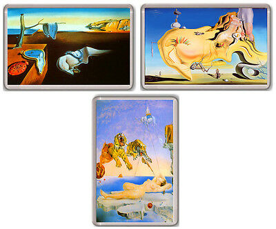 Salvador Dali Set 3 Fridge Magnet Imanes Nevera