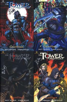 TOWER CHRONICLES VOLUMES 1,2,3,4 Signed Artist Simon Bisley + Limited Art Print