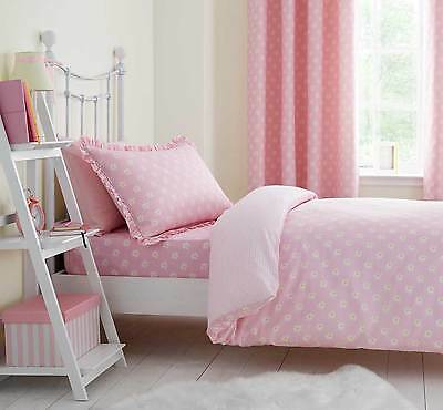 Girls Pink Floral DAISY DREAMER Duvet Cover Set or Fitted Sheet or Curtains