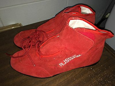 NEW RJS Racing Lo-Cut Red Size 15 Driving Shoes SFI Spec 3.3/5