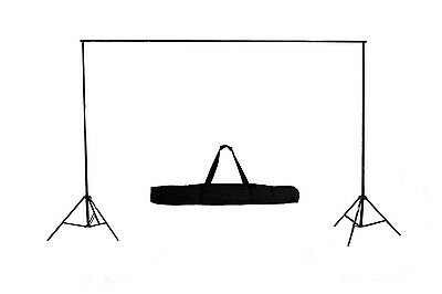 10 Ft Heavy Duty Adjustable Photography Background Support Stand Kit With Case