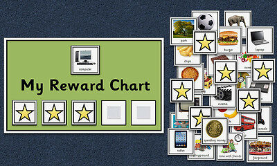 Behaviour Reward Chart - Autism / Aspergers / SEN / Special Needs / PECS / ADHD