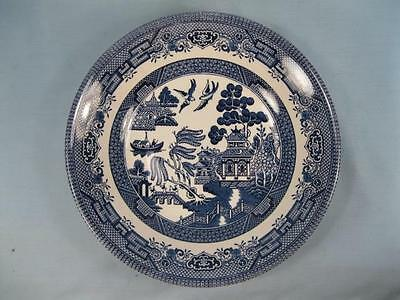 Blue Willow Coupe Soup Bowl Churchill England Staffordshire Georgian Shape (O3)