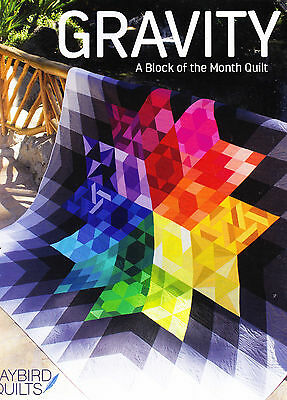 Gravity - Block of the Month pieced quilt PATTERN BOOK - Jaybird