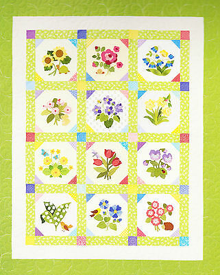 SALE - Cottage Garden - pretty applique and pieced quilt PATTERN - Brandywine