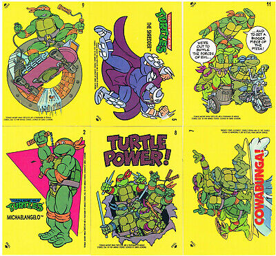 Ninja Turtles / Teenage Mutant Hero Turtles - 6 Sticker von 1989 - (TU4)