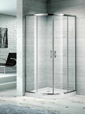Melbourne Bathroom 900 Curved Corner Sliding Shower Screen 850X850Mm