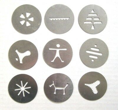Wear Ever Super Shooter Replacement Parts 9 Shape Cookie Discs