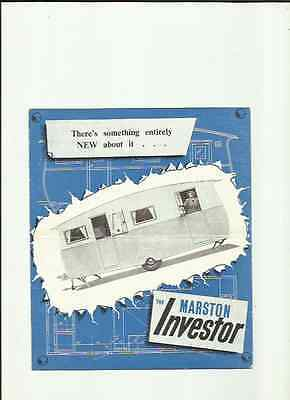 MARSTON INVESTOR CARAVAN SALES BROCHURE EARLY 50's?