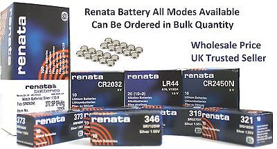 Genuine Renata Swiss Made Silver Oxide Watch Calculator Lithium Battery Cell