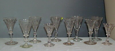 Antique Wine Glass Lot 10 Pieces