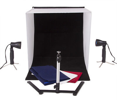 "24"" Table Top Tent Box Backdrop With Camera Stand Product Photography Kit"