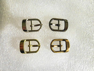 Small Buckles Metal fit 10mm straps for shoes, belts, hats, dolls, bags or toys