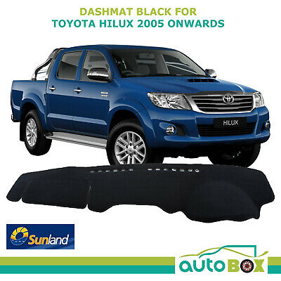 Sunland DashMat Dash Mat Cover Black Toyota Hilux March 05 to Aug 15 All Models