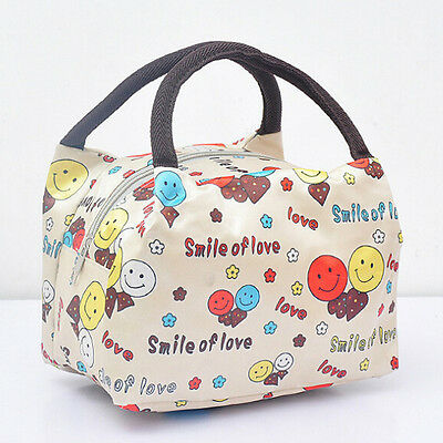 New Unisex Lunch Bag Travel Canves Waterproof Tote Container Portable Handbag