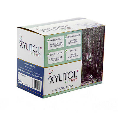 100% Natural BIRCH XYLITOL SACHETS Packets Sugar Free Sweetener 50 x 4g *