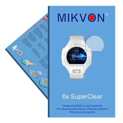 6x Mikvon films screen protector SuperClear for Alcatel OneTouch Go Watch