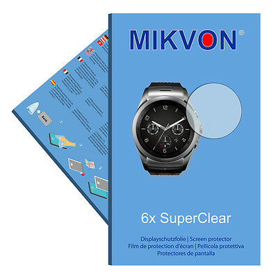 6x Mikvon films screen protector SuperClear for LG Watch Urbane