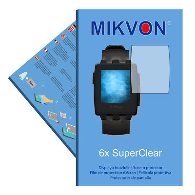 6x Mikvon films screen protector SuperClear for Pebble Steel