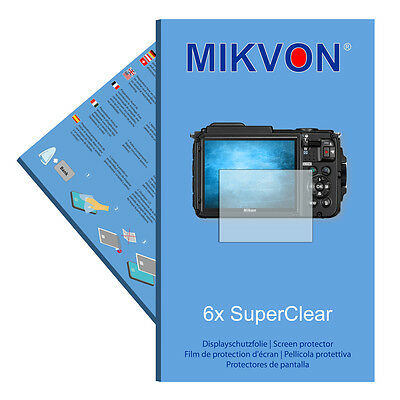 6x Mikvon films screen protector SuperClear for Nikon COOLPIX AW130
