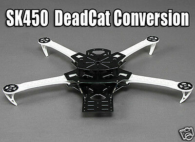 Dead Cat Conversion Kit for SK450 Quadcopter Frame - Aerobatics and FPV -UK SALE