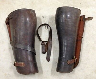 Vintage Antique Old West Museum Quality Leather Half Chaps