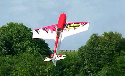 FUNTANA scratch build R/c Aerobatic Plane Plans & Instruction 76 in. wing span