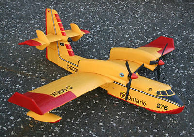 "CANADAIR CL-415 scratch build R/c Seaplane Plans 76"" wingspan ELECTRIC POWER"