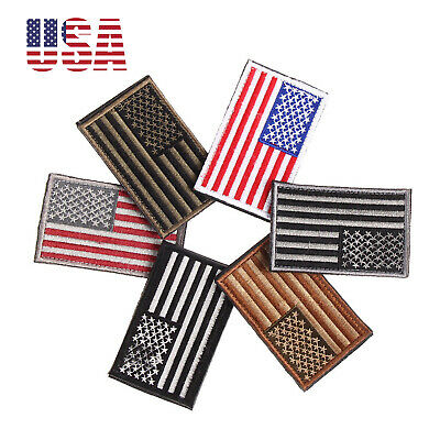 USA American Flag Embroidered Patch iron-On Sew-on Border United States Quality