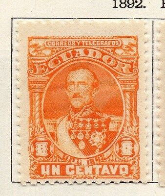 Ecuador 1892 Early Issue Fine Mint Hinged 1c. 002271