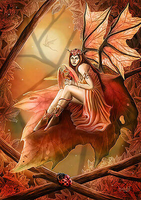 NEW CLARE BARTRAM AUTUMN FAIRY  3d PRINT PICTURE WITH FREE POSTAGE